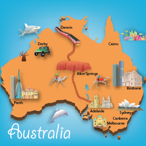 Australia Map Keith